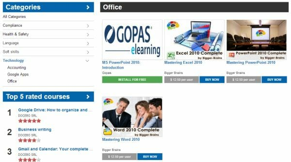 E-Learning courses on the Docebo Marketplace